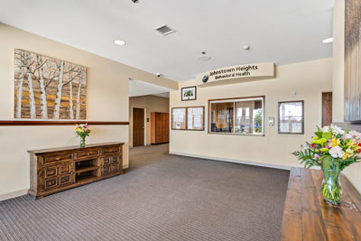 lobby of Johnstown Heights Behavioral Health - mental health and addiction treatment in Colorado